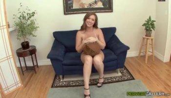 Sweet chick Liza Rowe getting horny