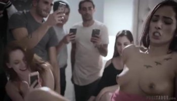 Juvenile darling is enticed to have threesome